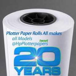 42″ X 300′ 20# Plotter Paper (2″ core)